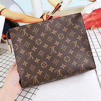 LV Popular Women Makeup Bags Handbag Men Business Bag Louis Vuitton Classic Clutch Bag I/A