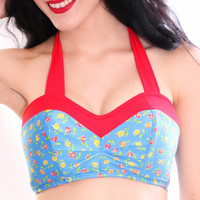 Lollipop Retro Bikini Top