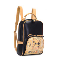Vintage Style PU Backpack for Women B