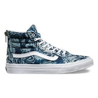 Indigo Tropical SK8-Hi Slim Zip | Shop Womens Shoes at Vans
