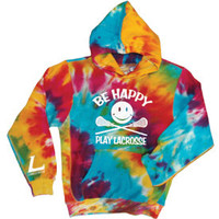 LACROSSE - BE HAPPY RAINBOW TIE DYE HOOD-longstreth