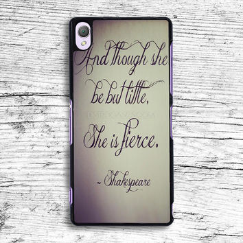 Though She Be But Little She Is Fierce Sony Xperia Case, iPhone 4s 5s 5c 6s Plus Cases, iPod Touch 4 5 6 case, samsung case, HTC case, LG case, Nexus case, iPad cases