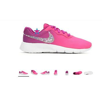 Bling Shoes for Girls | Nike Big Kid Tanjun Pink Fade | 3.5-7