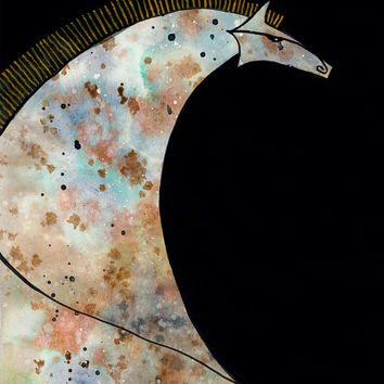 Blue Appaloosa // Horse Fine Art Print Poster from original painting by Aprille Lipton