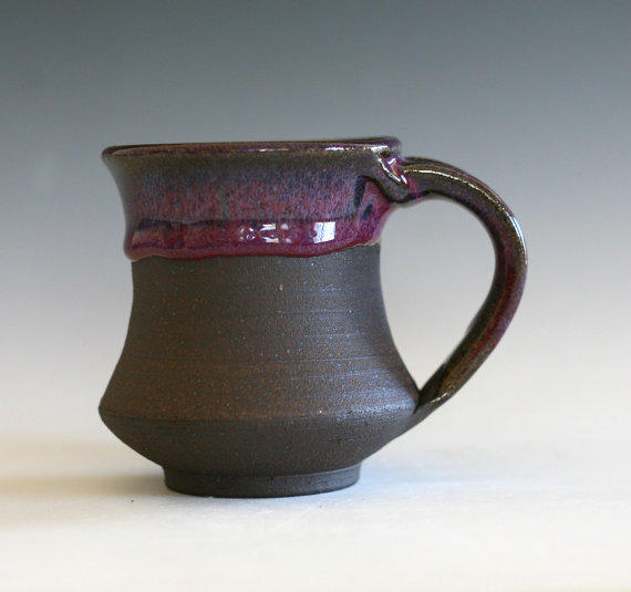 Small pottery coffee mug 8 oz handmade from ocpottery on Unique coffee cups mugs
