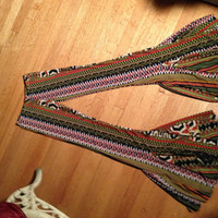 Bohemian Gypsy Hippie Patterned Bell Bottoms Bells - Custom order for Gloria Ruth Finney