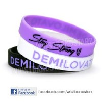Stay Strong Demi Lovato Wristband PURPLE