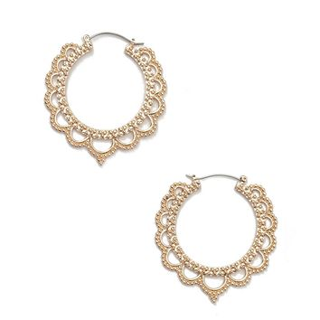 Ornate Cutout Drop Earrings