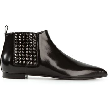 Sergio Rossi studded low Chelsea boots