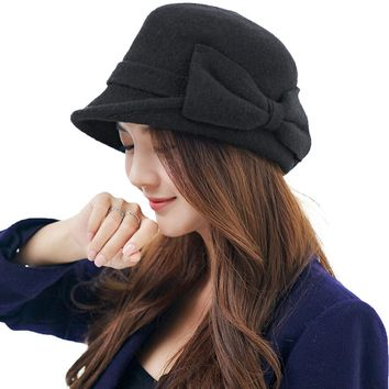 30db759ff357a Women Beret Cloche Felt Hat female Bonia Winter Baret Wool SIGGI