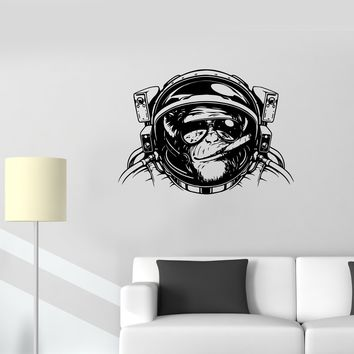 Wall Stickers Monkey Astronaut Space Helmet Diving Decor Vinyl Decal Unique Gift (ed533)