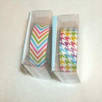 Rainbow Craft Tape  2 rolls, 60 feet total, 2 designs, bright, craft supply, scrapbooking, card making, tags, art supply, crafting tape