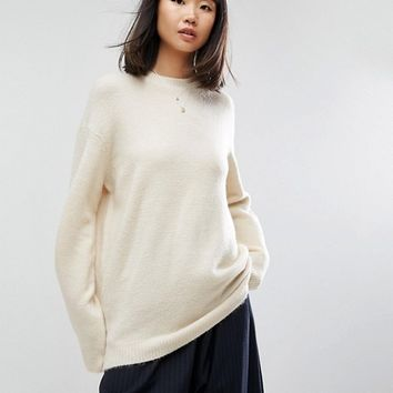 ASOS Jumper In Oversized With Crew Neck at asos.com