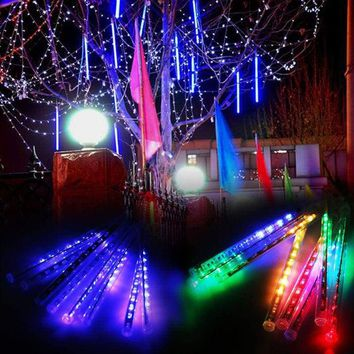 8 Meteor Shower Falling Star/Rain Drop/Icicle Snow LED Xmas String Light Decor