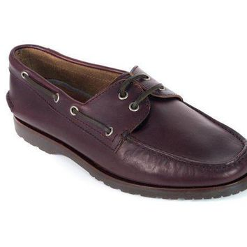 Brunello Cucinelli Men's Brown Leather Lace Up Boat Shoes