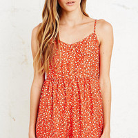 Kimchi Blue Coco Loco Playsuit in Coral - Urban Outfitters