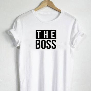 a92466647b Tops and Tees T-Shirt EnjoytheSpirit The Boss The Real Boss Funn