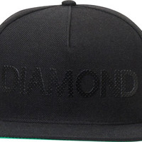 Diamond Team Hat Adjustible Black Snapback