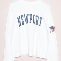 Nancy Newport Sweatshirt - Embroidery - Graphics