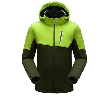 Outdoor Climbing Mountain Hiking Clothing Tech Fleece Softshell Jacket Men Women's Sport Fishing Hunting Ski Clothes