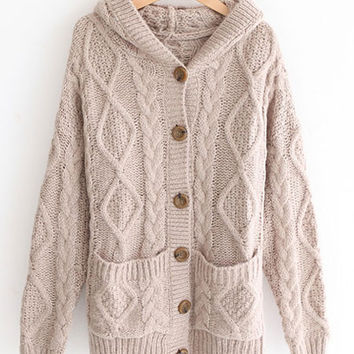 'The Zarah' Twisted Print Kntted Sweater