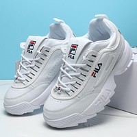FILA DISRUPTOR II Woman Men Fashion Sneakers Sport Shoes