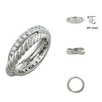 Sterling Silver Infinity Anniversary CZ Ring Size: 5