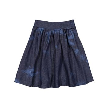 Teela Girls' Faded Denim Circle Skirt