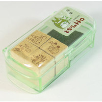 Totoro Small Stamp Set w/ Case -- Set of 4