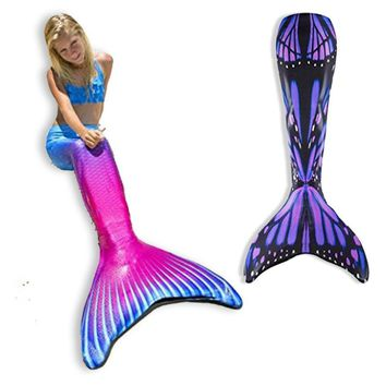 Swimmable Mermaid Tail For Kids Child's Mermaid Tails with Monofin For Woman Costume Cosplay Clothing Child Swimwear Adult New
