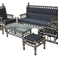 Handmade Sankheda Sofa Set  - 6 Pcs
