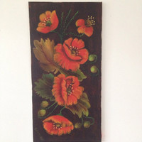 Poppies Painting Pretty Oil Painting Orange Poppies Cottage Chic Decor