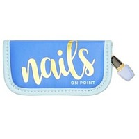 4 Piece Manicure Kit with Nail Polish Charm in 3 Colors: Blue, Teal, Pink