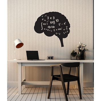 Vinyl Wall Decal Brain Math Mathematics School Classroom Decor Stickers Mural (ig6088)