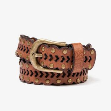 Scalloped Faux Leather Belt