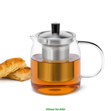 Superior Quality Medium Size Modern Style Teapot 700ml with Food Grade 304 Stainless Steel Infuser Free Shipping