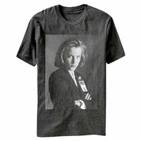 X-Files Scully Badge Gray T-Shirt