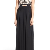 Blondie Nites Tattoo Lace Cutout Gown | Nordstrom