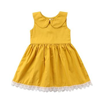 Girl Dress  New Newborn Toddler Kids Baby Girls Floral Sleeveless Princess Party Pageant Dresses Clothes