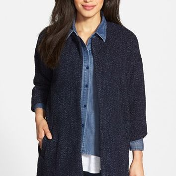 Women's Eileen Fisher Boucle Tweed Long Jacket,