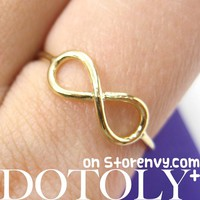 Classic Infinity Loop Promise Friendship Ring in Gold | DOTOLY