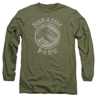 Jurassic Park - Jp Stamp Long Sleeve Adult 18/1 Officially Licensed Shirt