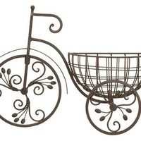 A.M.B. Furniture & Design :: Accessories :: Wall Art & Clocks :: Antiqued Metal Old Style Bicycle Floral Wall Planter
