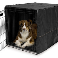 Quiet Time Dog Crate Cover Black - 42""