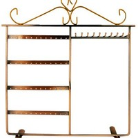 MyGift Bronze Jewelry Holder Hanger, Jewelry Stand for Earrings / Necklaces / Bracelets