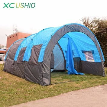 Big Tunnel Tent 5-8 Person Huge Family Tent House for Outdoor Camping Party