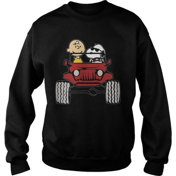 Jeep they are Snoopy and Charlie brown shirt Sweatshirt Unisex