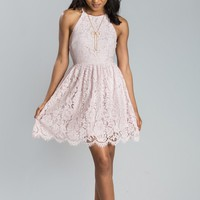 Leslie Pink Lace Dress