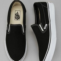 Vans Black/White Classic Canvas Leisure Shoes-1