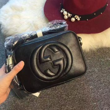DCCKN6V Gucci' Women Simple Fashion Classic Logo Embossed Tassel Zip Camera Bag Single Shoulder Messenger Bag
